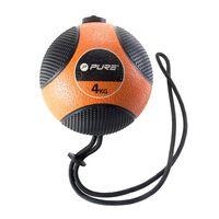 Pure2Improve Medizinball mit Seil 4 kg Orange