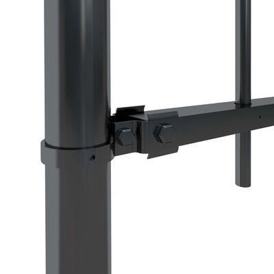 vidaXL Gartenzaun mit Bügel-Design Stahl 17 x 0,6 m Schwarz