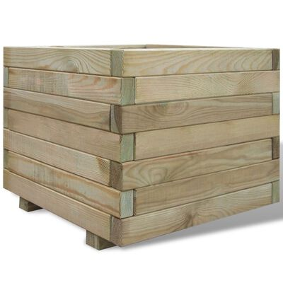 vidaXL Hochbeet 50x50x40 cm Holz Quadratisch