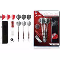 XQmax Darts Vernickeltes Darts-Set 30-tlg. 21 g Stahlspitzen QD7000680