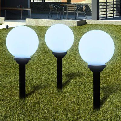 vidaXL Wegeleuchten 6 Stk. LED 20 cm mit Erdspieß