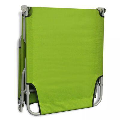 vidaXL Sonnenliege Klappbar mit Rückenlehne Verstellbar Apfelgrün