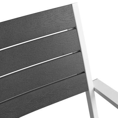 vidaXL 5-tlg. Garten-Essgruppe mit WPC-Tischplatte Aluminium Schwarz
