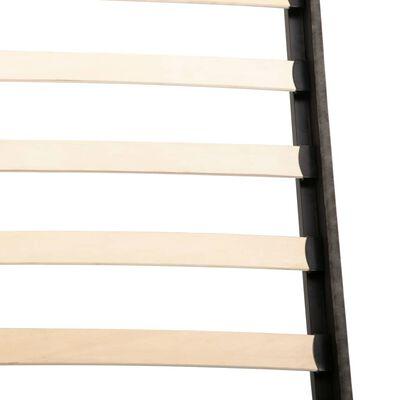 vidaXL Bett mit Memory-Schaum-Matratze Dunkelgrau Stoff 140×200 cm