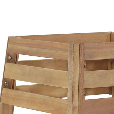 vidaXL Baumbank 140×140×86 cm Massivholz Akazie