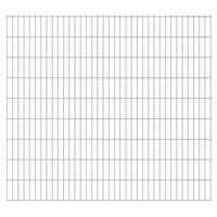vidaXL 2D Gartenzaun-Elemente 2,008x1,83 m Gesamtlänge 14 m Silbern