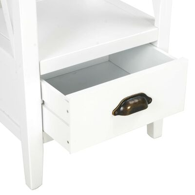 vidaXL Bücherregal mit 1 Schublade Weiß 40×30×170 cm MDF