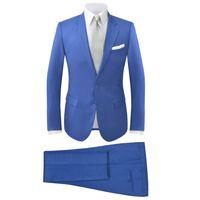 vidaXL 2-tlg. Herren-Anzug Königsblau Größe 56