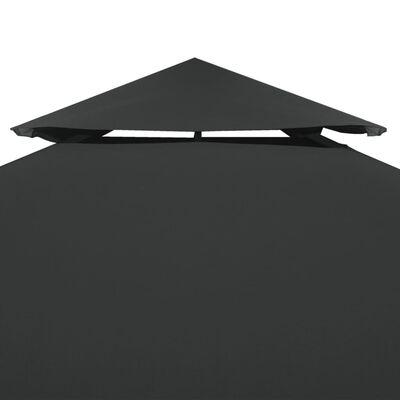 vidaXL Pavillon-Ersatzdach 310 g/m² Dunkelgrau 3x3 m
