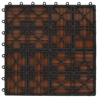 vidaXL 22 Stk. Terrassenfliesen 30 x 30 cm 2 qm WPC Braun