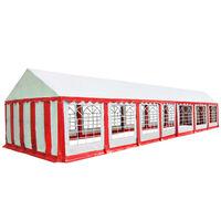 vidaXL Partyzelt PVC 6x14 m Rot und Weiß