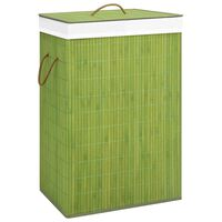 vidaXL Bambus-Wäschekorb Grün 72 L