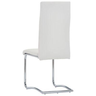 vidaXL Freischwinger 6 Stk. Weiß Kunstleder