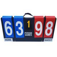GUTA Anzeigetafel für Sport Hartfaserplatte Tragbar/Faltbar