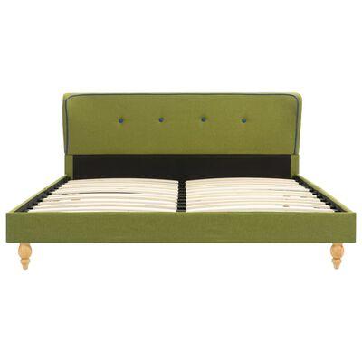 vidaXL Bett mit Matratze Grün Stoff 140 x 200 cm