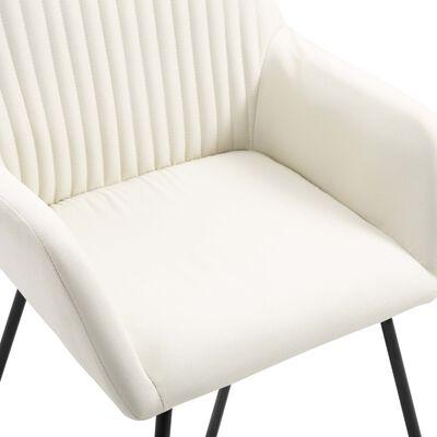 vidaXL Esszimmerstühle 6 Stk. Creme Stoff