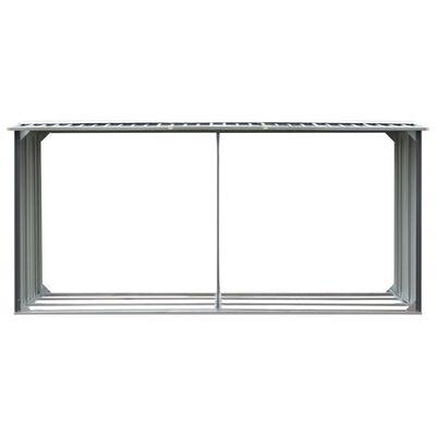 vidaXL Brennholzlager aus verzinktem Stahl 330 x 92 x 153 cm Grau