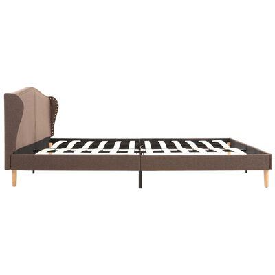 vidaXL Bett mit Memory-Schaum-Matratze Braun Stoff 180×200 cm