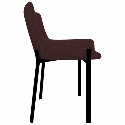 vidaXL Esszimmerstühle 6 Stk. Weinrot Stoff