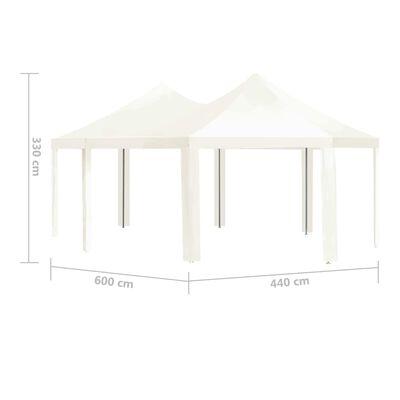 vidaXL Gartenpavillon Cremeweiß 600×440×330 cm
