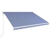 vidaXL Automatisch Einziehbare Markise 400×300 cm Blau und Weiß