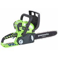Greenworks Kettensäge G40CS30 mit 40 V 2 Ah Batterie 30 cm 20117UA