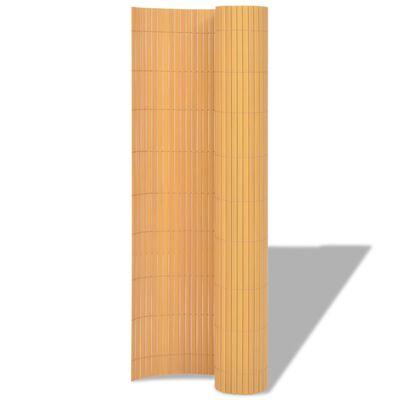 vidaXL Gartenzaun Doppelseitig PVC 195×300 cm Gelb