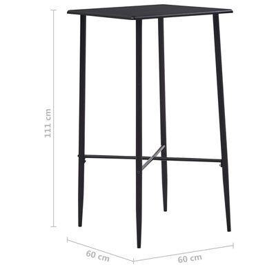 vidaXL 5-tlg. Bar-Set Kunststoff Grau