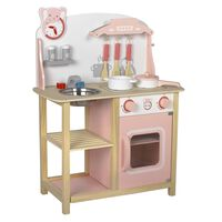 Baninni Spielküche Cucina Holz Rosa