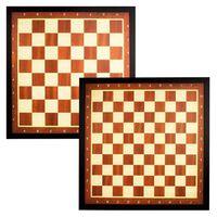Abbey Game Schach- und Damebrettspiel mit brauner Randleiste 49CD