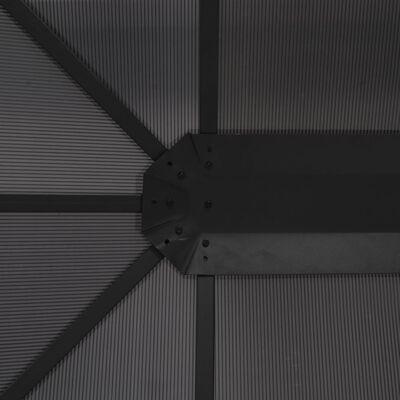vidaXL Gartenpavillon mit Dach Aluminium 4×3×2,6 m Schwarz