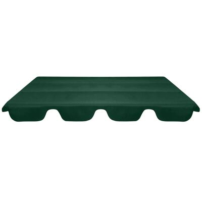 vidaXL Ersatzdach für Gartenschaukel Grün 226x186 cm