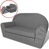 vidaXL Kinder Ausklapp-Loungesessel Grau