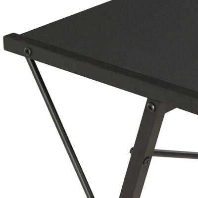 vidaXL Schreibtisch mit Regal Schwarz 116×50×93 cm