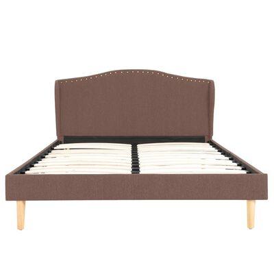 vidaXL Bett mit Matratze Braun Stoff 120 x 200 cm