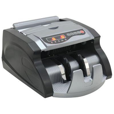 vidaXL Geldzählmaschine für Banknoten und Geldscheine Schwarz und Grau