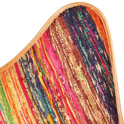 vidaXL Schmetterlingsessel 4 Stk. Mehrfarbig Chindi Stoff