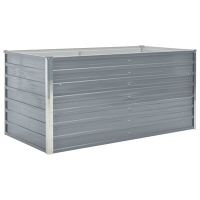 vidaXL Hochbeet 160 x 80 x 77 cm Verzinkter Stahl Grau