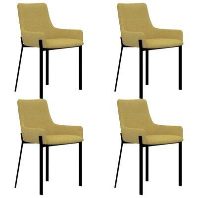 vidaXL Esszimmerstühle 4 Stk. Gelb Stoff