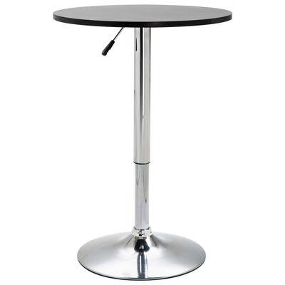 vidaXL 3-tlg. Bar-Set Kunstleder Schwarz