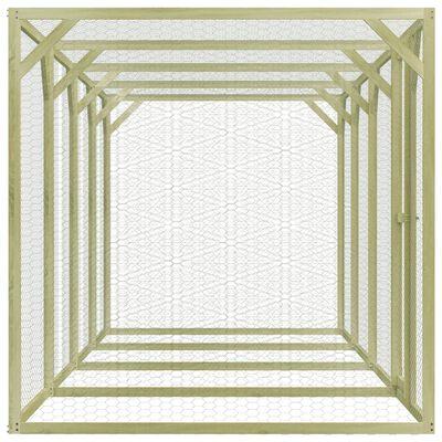 vidaXL Hühnerkäfig 1,5 x 6 x 1,5 m Imprägniertes Kiefernholz