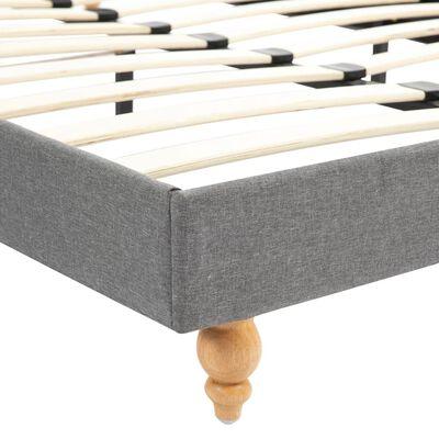 vidaXL Bett mit Matratze Hellgrau Stoff 90 x 200 cm