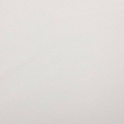 vidaXL Bett mit Matratze Weiß und Schwarz Kunstleder 140 x 200 cm
