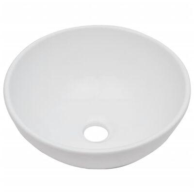 vidaXL 2-tlg. Badmöbel-Set Keramik Schwarz
