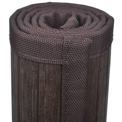 vidaXL Bambus-Badematten 4 Stk. 40x50 cm Dunkelbraun