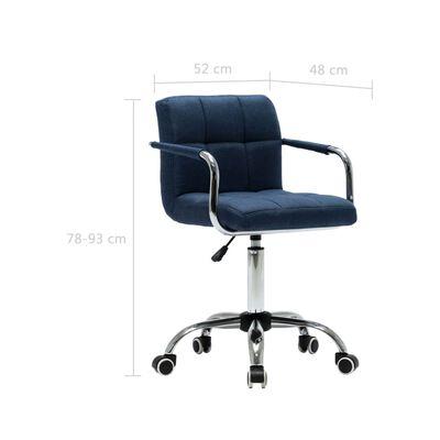 vidaXL Esszimmerstühle Drehbar 6 Stk. Blau Stoff