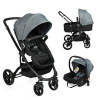 Little World 3-in-1 Kinderwagen City Walker Grau und Schwarz