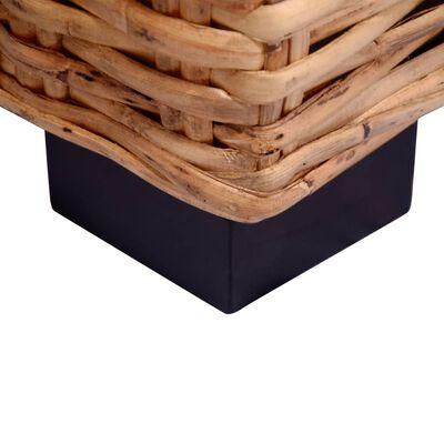 vidaXL 2-tlg. Sofagarnitur mit Auflagen Natur Rattan