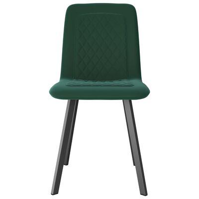 vidaXL Esszimmerstühle 4 Stk. Grün Samt