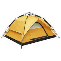 vidaXL Pop-Up-Campingzelt 2-3 Personen 240×210×140 cm Gelb
